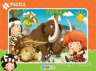 Dino ve Mamut Çerçeveli Puzzle 72 Parça