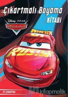 Disney Arabalar Çıkartmalı Boyama Kitabı