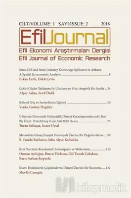Efil Ekonomi Araştırmaları Dergisi Cilt: 1 Sayı: 2