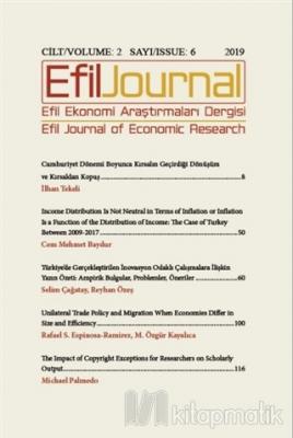 Efil Ekonomi Araştırmaları Dergisi Cilt: 2 Sayı: 6