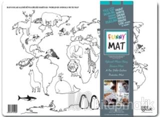 Funny Mat - Dünya Dilsiz Haritası - Hayvanlar Alemi