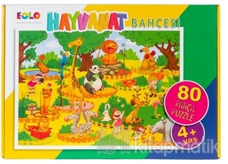 Hayvanat Bahçesi - 80 Parça Puzzle (4 Yaş)