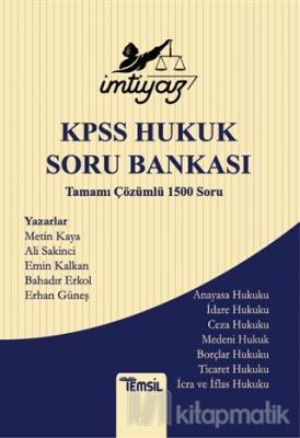 İmtiyaz KPSS Hukuk Soru Bankası Tamamı Çözümlü 1500 Soru Ali Sakinci