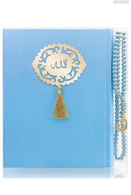 İnci Tesbih Hediyeli Mavi Kur'an'ı Kerîm