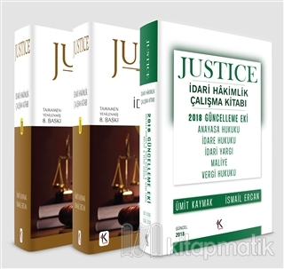 Justice İdari Hakimlik Çalışma Kitabı (2 Cilt Takım) 2018 Güncelleme Eki İlaveli (Ciltli)