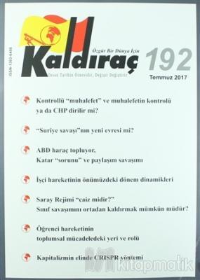 Kaldıraç Dergisi Sayı : 192 Temmuz 2017