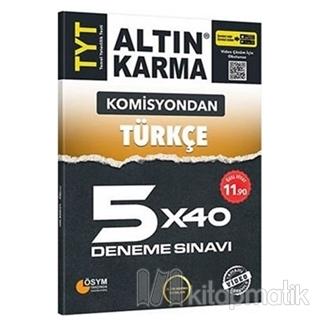 Komisyondan TYT Türkçe 5x40 Deneme Sınavı