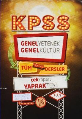 KPSS GYGK Tüm Dersler Çek Kopart Yaprak Test 2017