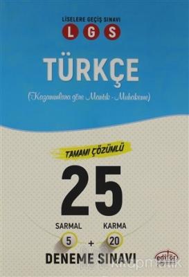 LGS Türkçe Tamamı Çözümlü 25 Deneme Sınavı