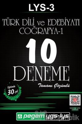 LYS - 3 Türk Dili ve Edebiyatı - Coğrafya 1 Tamamı Çözümlü 10 Deneme