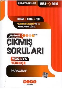 Merkez YGS LYS Türkçe Paragraf Çıkmış Sorular 1981 2016