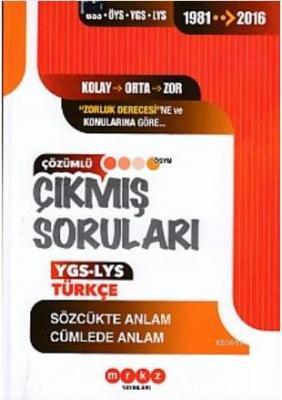 Merkez YGS Türkçe Sözcükte Anlam Cümlede Anlam
