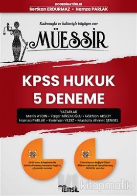 Müessir KPSS Hukuk 5 Deneme Metin Aydın