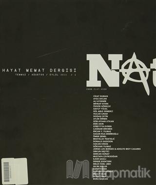 Natama Hayat Memat Dergisi Sayı: 3 Temmuz - Ağustos - Eylül 2013