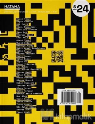 Natama Şiir ve Eleştiri Dergisi Sayı: 24 Ekim - Aralık 2019