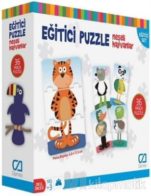 Neşeli Hayvanlar - Eğitici Puzzle