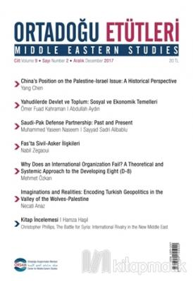 Ortadoğu Etütleri Cilt 9 Sayı 2 Aralık 2017