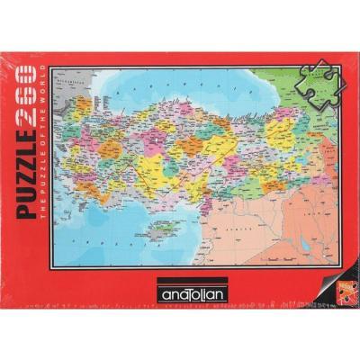 Anatolian Puzzle 260 Parça Türkiye Siyasi Haritası 3269