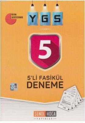 Şenol Hoca YGS 5 li Fasikül Deneme