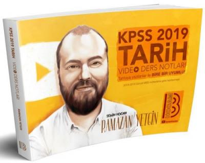2019 KPSS Tarih Video Ders Notları