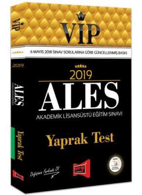 2019 ALES VIP Yaprak Test