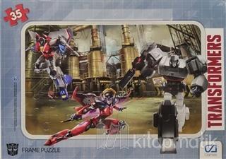 CA Games Transformers - Frame Puzzle 2 - Yeşil (35 Parça)