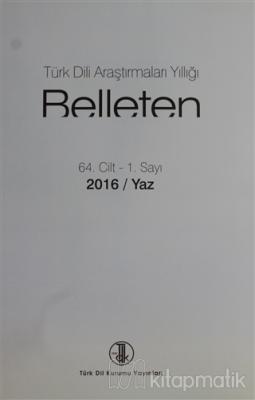 Türk Dili Araştırmaları Yıllığı - Belleten 2016 / Yaz Kolektif