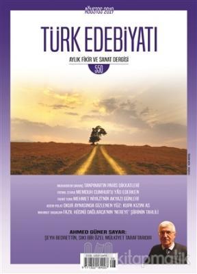 Türk Edebiyatı Dergisi Sayı: 550 Ağustos 2019