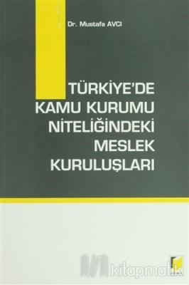 Türkiye'de Kamu Kurumu Niteliğindeki Meslek Kuruluşları Mustafa Avcı