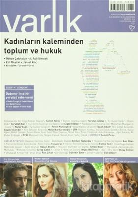 Varlık Aylık Edebiyat ve Kültür Dergisi Sayı: 1283 - Ağustos 2014