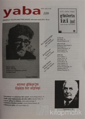 Yaba Edebiyat Dergisi Sayı: 109 Ekim - Kasım - Aralık 2018 Kollektif
