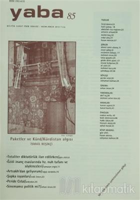 Yaba Edebiyat Dergisi Sayı: 85 Kolektif