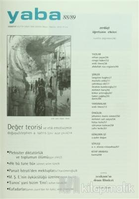Yaba Edebiyat Dergisi Sayı: 88/89 Kolektif
