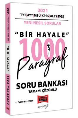 Yargı Yayınları 2021 TYT AYT MSÜ KPSS ALES DGS Bir Hayale 1000 Paragra