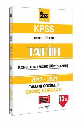 2022 KPSS Genel Kültür Tarih Konularına Göre Düzenlenmiş Tamamı Çözüml