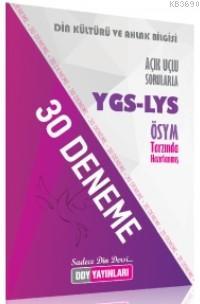 YGS-LYS Din Kültürü ve Ahlak Bilgisi 30 Deneme
