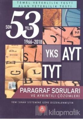 YKS AYT TYT Son 53 Yılın Paragraf Soruları ve Ayrıntılı Çözümleri 1966-2018