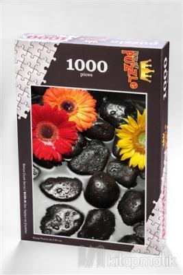 Zen Taşları ve Çiçekler (1000 Parça) - Ahşap Puzzle Bahçe Çiçek Serisi (BC05-M)
