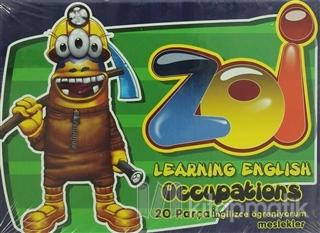 Zoi İngilizce Öğreniyorum Meslekler 20 Parça Puzzle