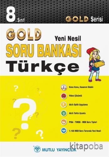 8. Sınıf Türkçe Soru Bankası - Gold Yeni Nesil Serisi - Komisyon - kit