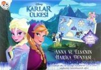 Disney Karlar Ülkesi Anna ve Elsa'nın Harika Dünyası Yapboz Kitabı - -