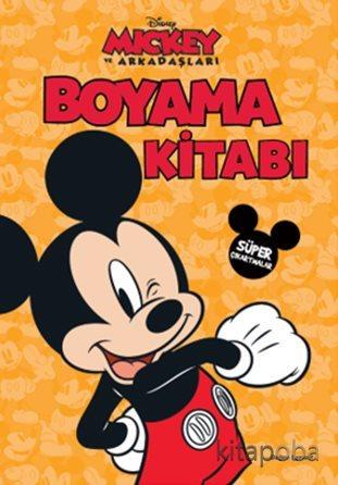 Disney Mickey ve Arkadaşları Boyama Kitabı - - kitapoba.com