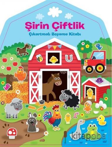 Şirin Çiftlik Çıkartmalı Boyama Kitabı - - kitapoba.com
