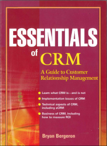 Essentials of CRM