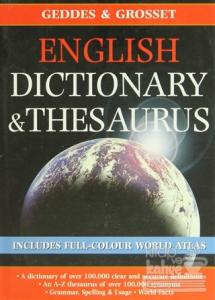 English Dictionary and Thesaurus (Ciltli)