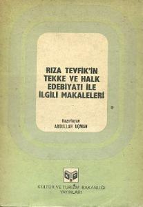 Rıza Tevfik'in Tekke ve Halk Edebiyatı ile İlgili Makaleleri