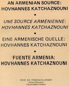 An Armenian Source: Hovannes Katchaznouni
