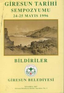 Giresun Tarihi Sempozyumu 24 25 Mayıs 1996