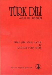 Türk Dili Türk Şiiri Özel Sayısı 4 Çağdaş Türk Şiiri 481 482 Ocak Şubat 1992