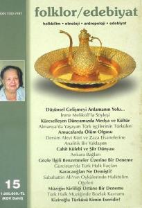 Folklor / Edebiyat 15 Sonbahar 1998